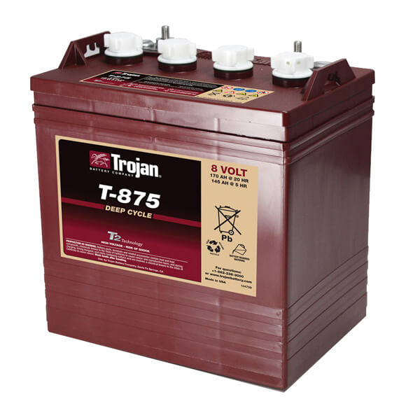 Trojan T875 8v Battery For Golf Carts Utility Vehicles Golf Car