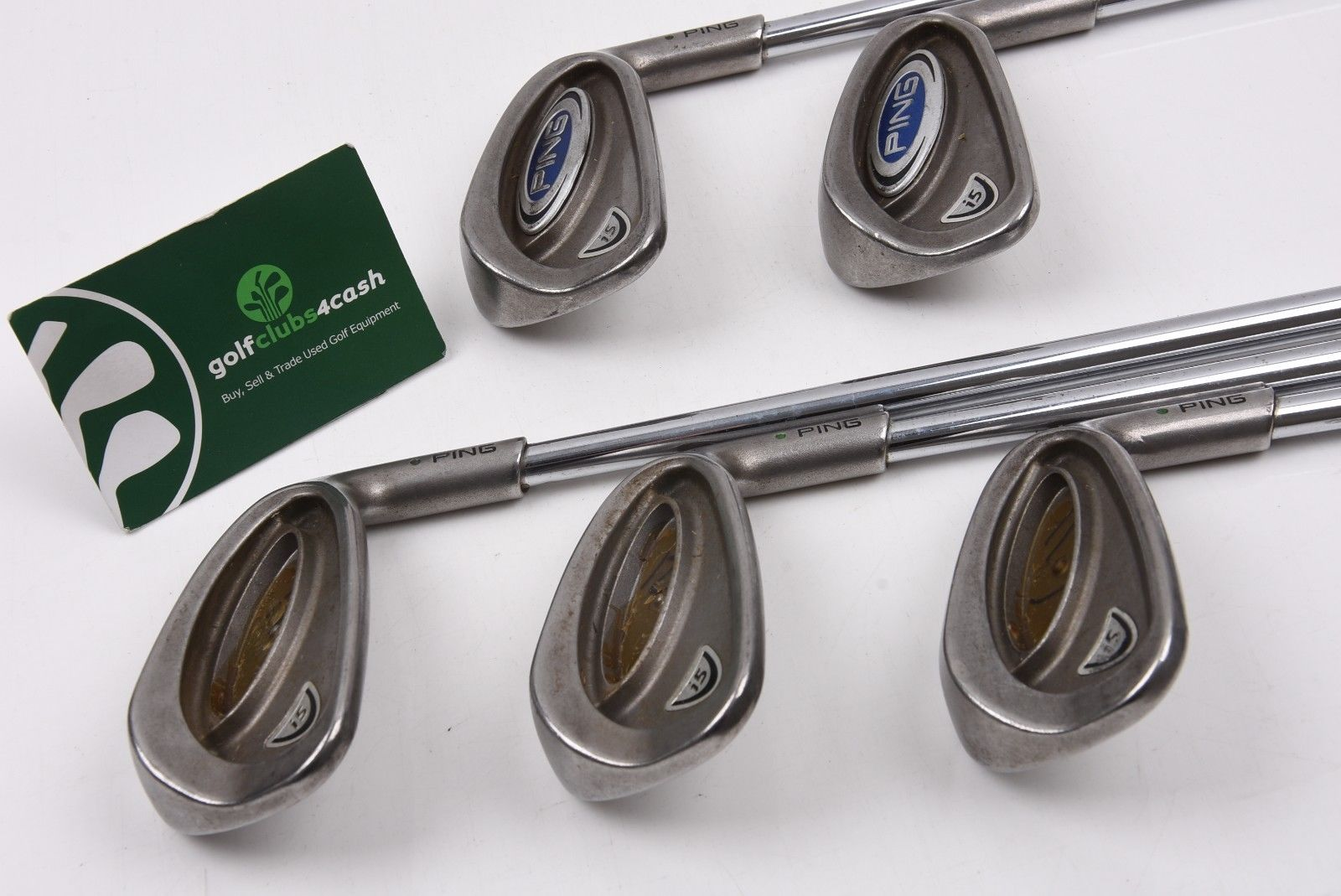 PING i5 IRONS / 6-PW / REGULAR STEEL SHAFTS / GREEN DOT / PIII54001