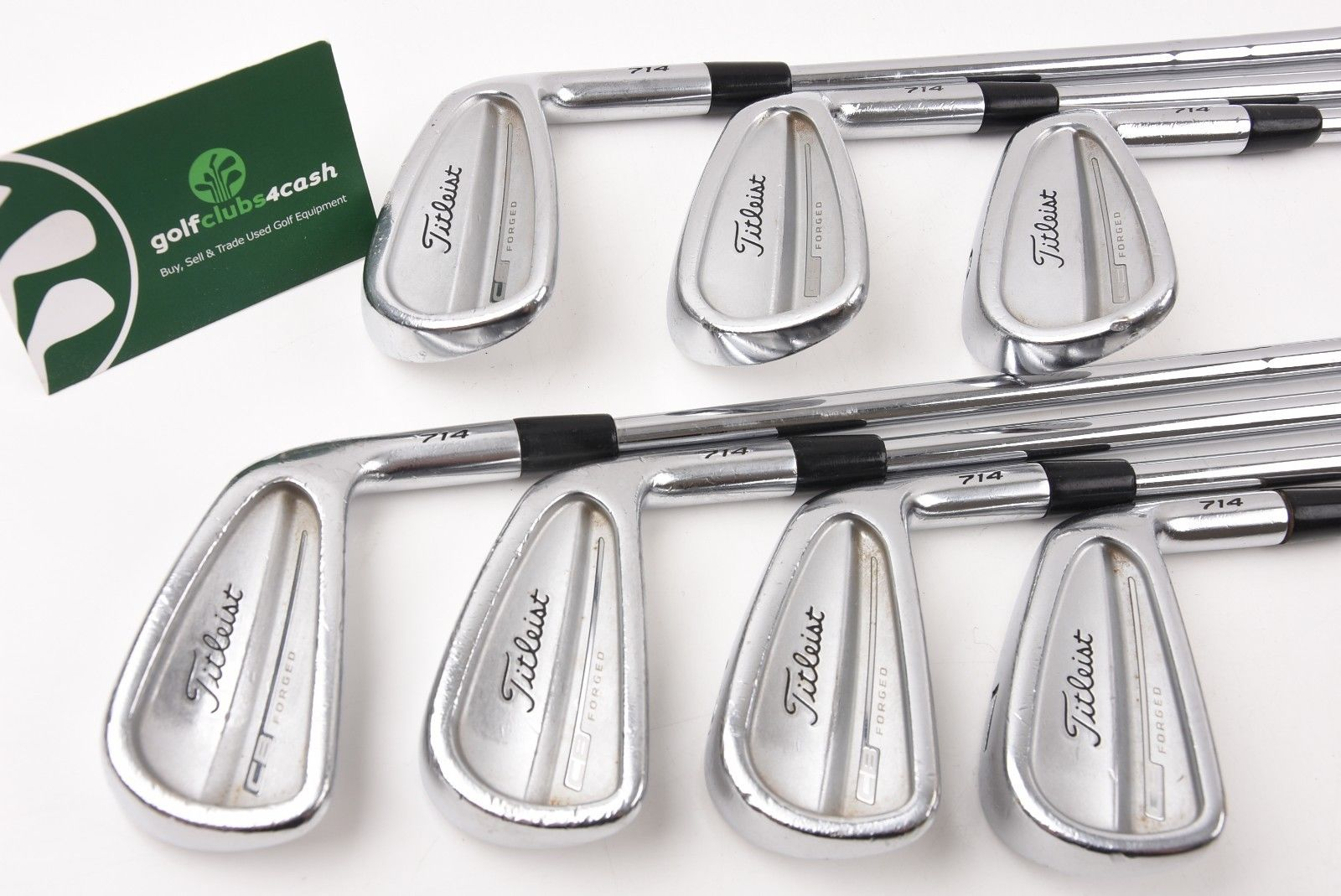 TITLEIST CB FORGED 714 IRONS / 4-PW / X-FLEX KBS TOUR SHAFTS / TIICB7025