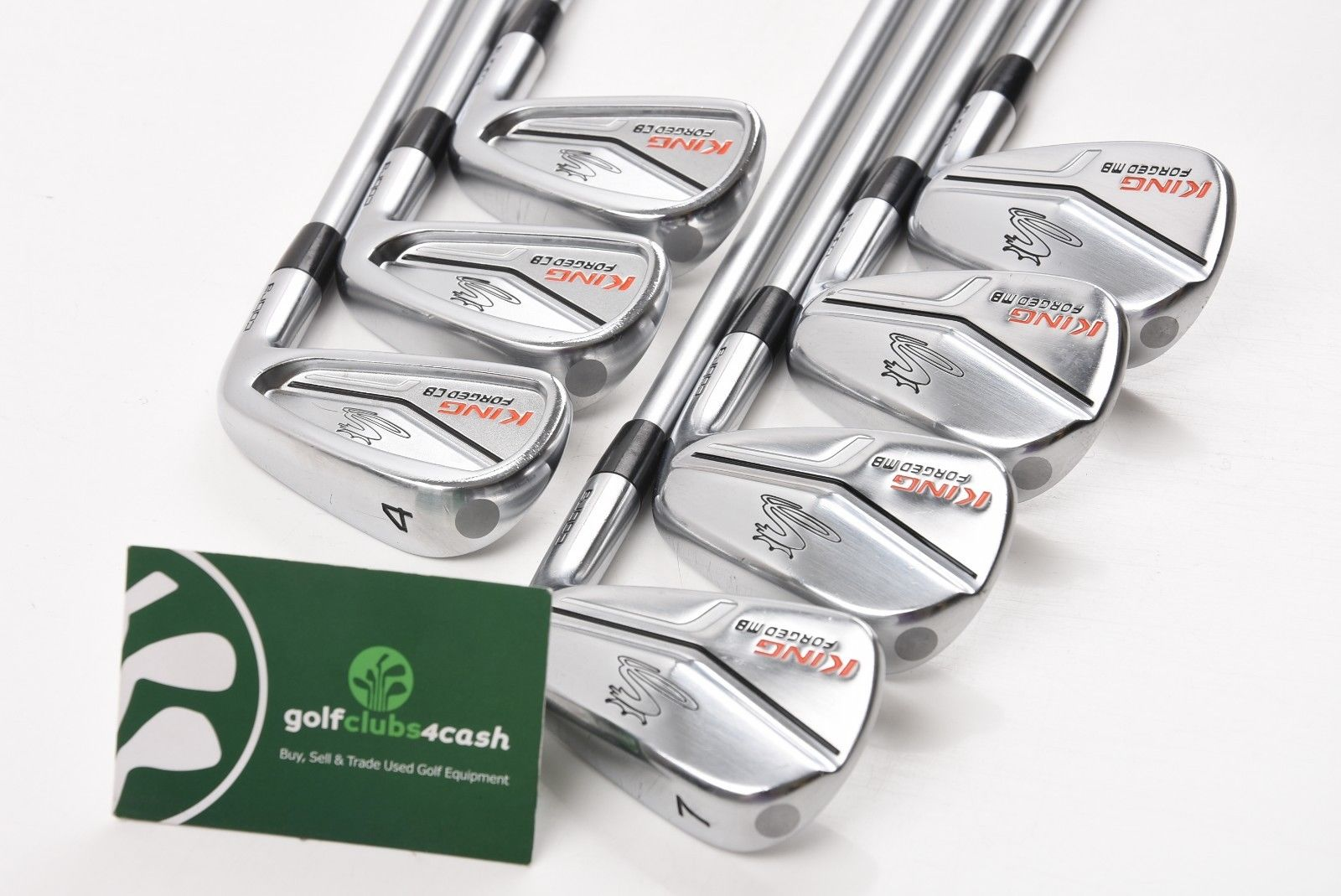 162ee311ed38 COBRA KING FORGED CB/MB COMBO IRONS / 4-PW / STIFF KBS TOUR SHAFTS /  COIKIN082