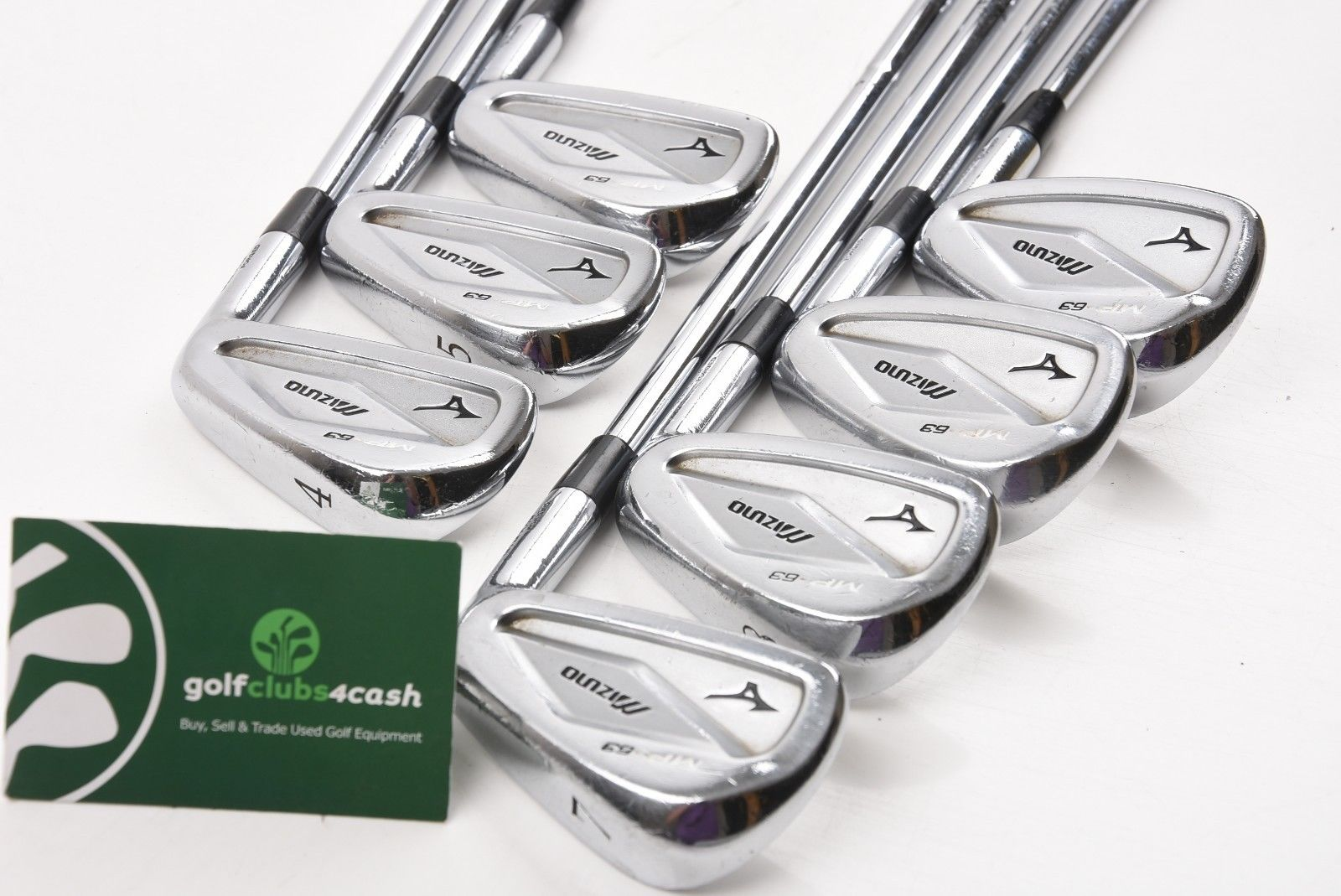 46e56996cccc MIZUNO MP-63 FORGED IRONS / 4-PW / STIFF DYNAMIC GOLD S300 SHAFTS ...