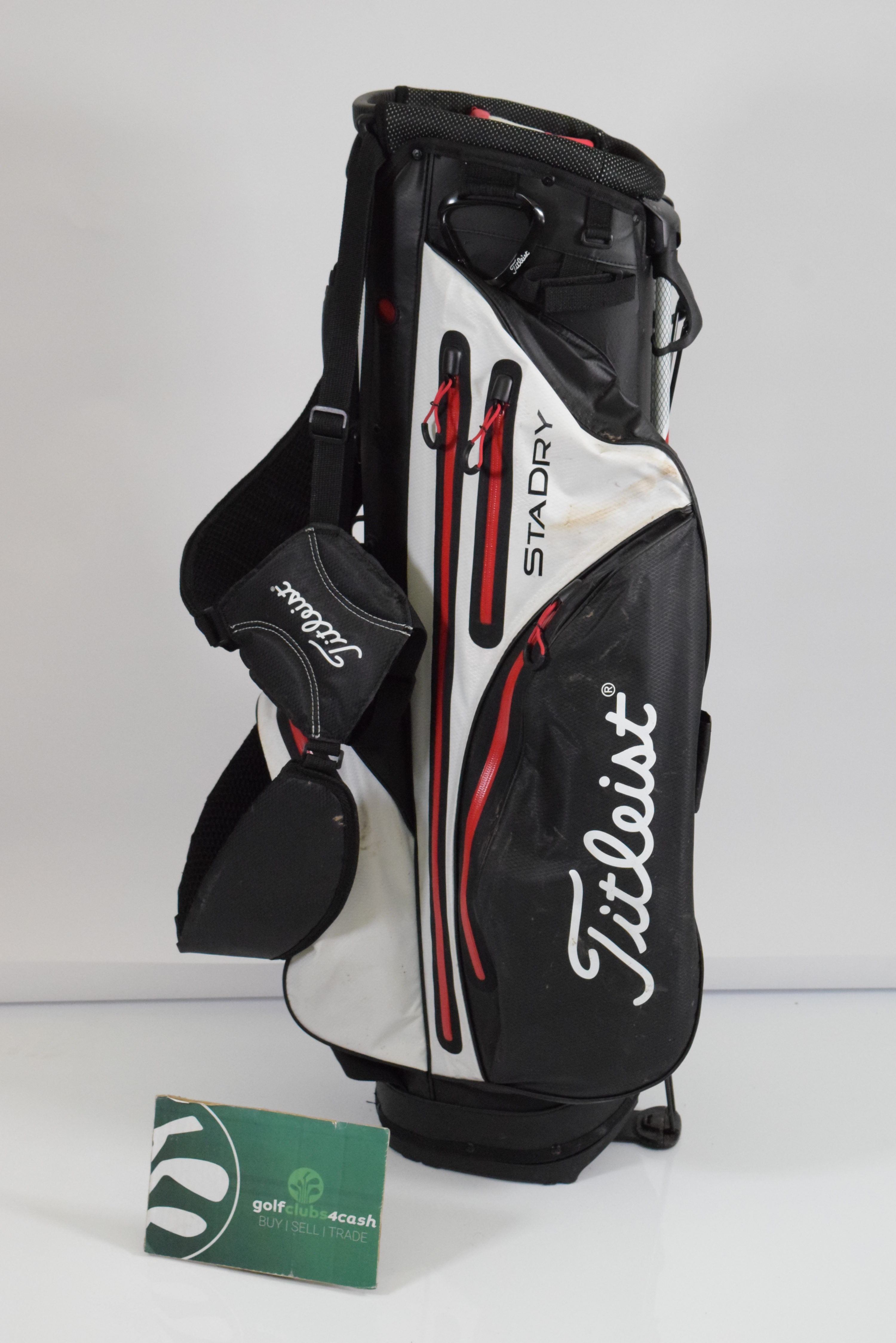086bf7a432a24 TITLEIST STADRY STAND BAG   WHITE