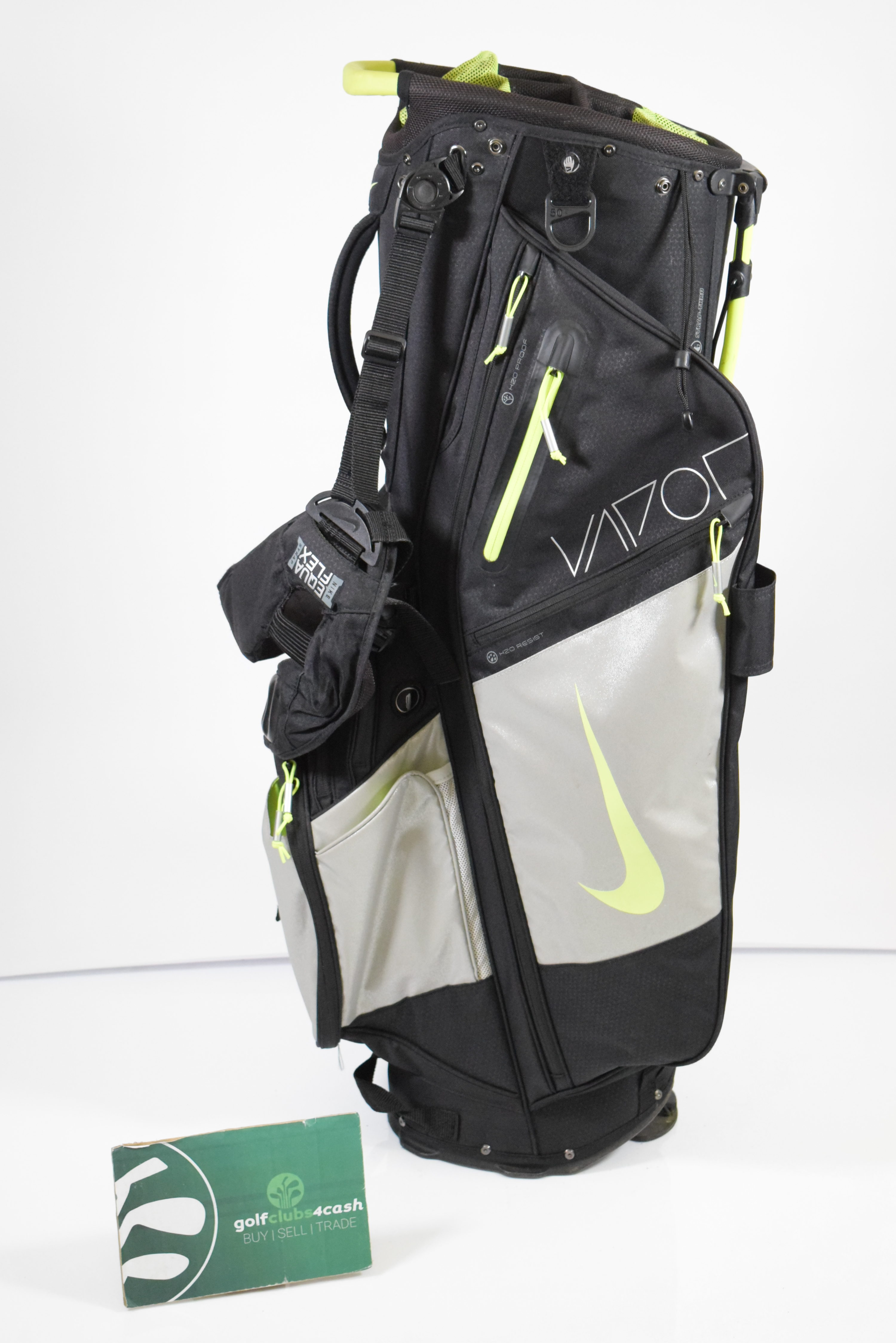 Nike Vapor Stand Bag Black Green Silver 14 Way Dividers