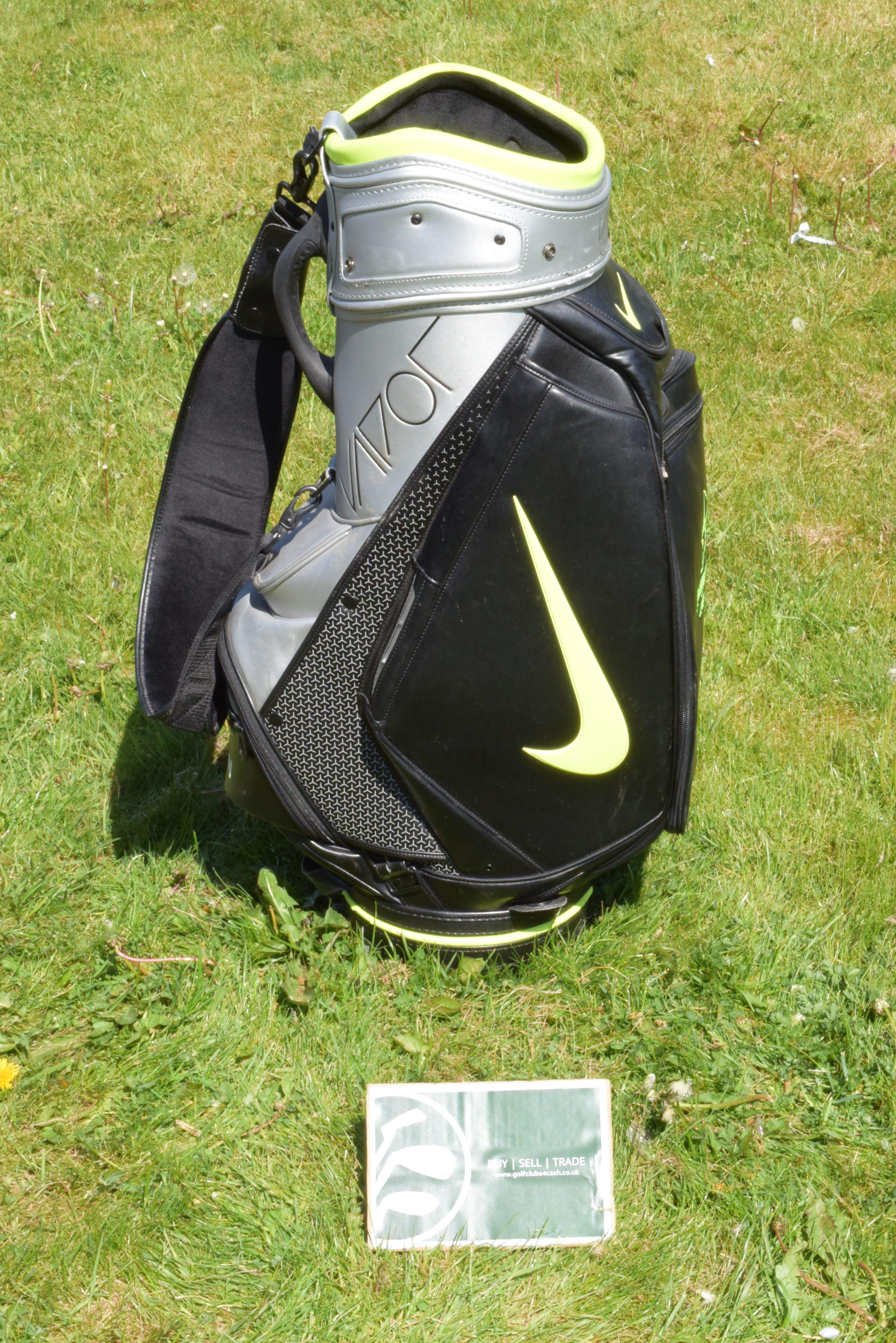 Nike Vapor Tour Cart Bag Lime Black Silver 6 Way Nigvap010