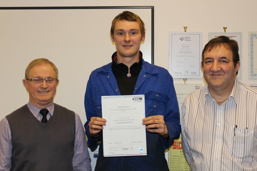 Apprentice Connor Heath achieves Qualification in Industrial Environment Awareness