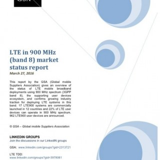 LTE In 900 MHz Band 8 Market Status Report