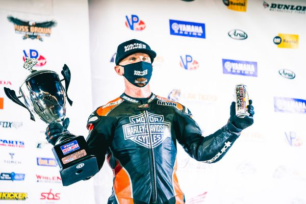 Bryan Smith Races Harley-Davidson XG750R To AFT Supertwins Podium Finish At Indy Mile