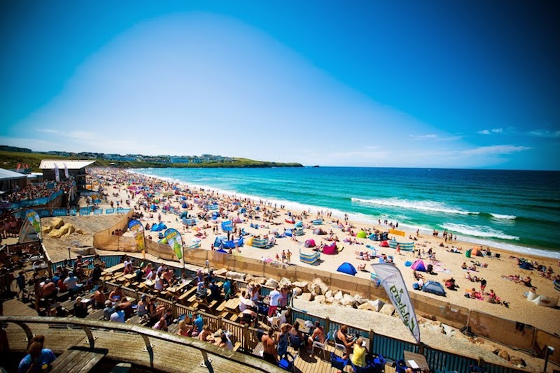 Boardmasters Festival at Fistral Beach in Newquay