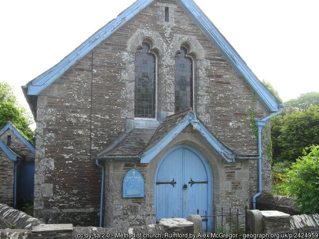 Rumford Methodist Chapel in Cornwall