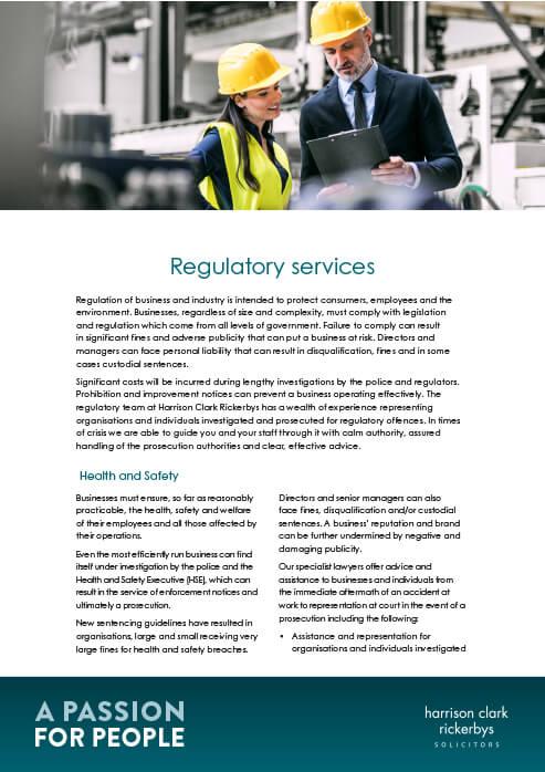 Regulatory Services