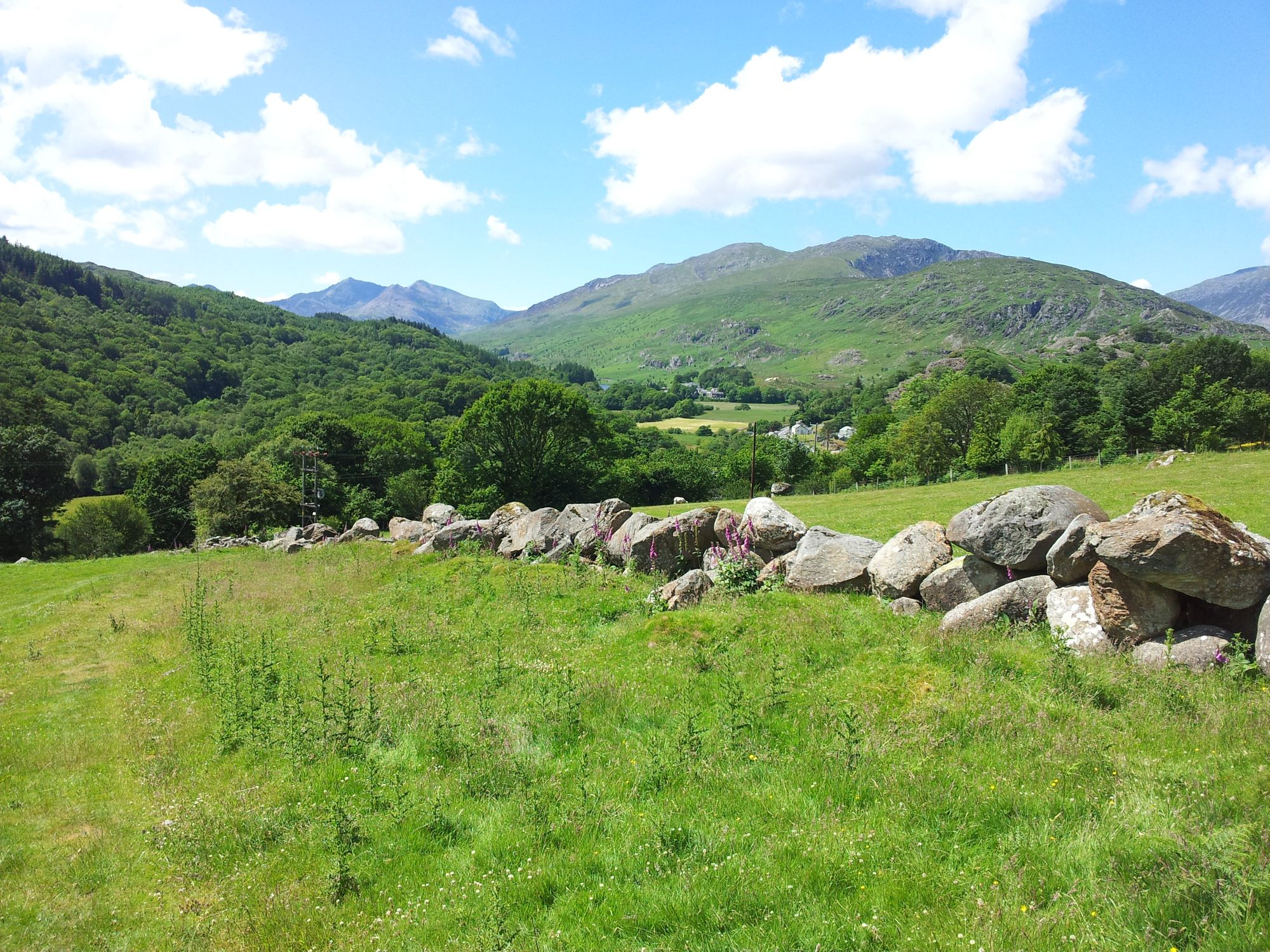Looking back to Snowdon from Capel Curig