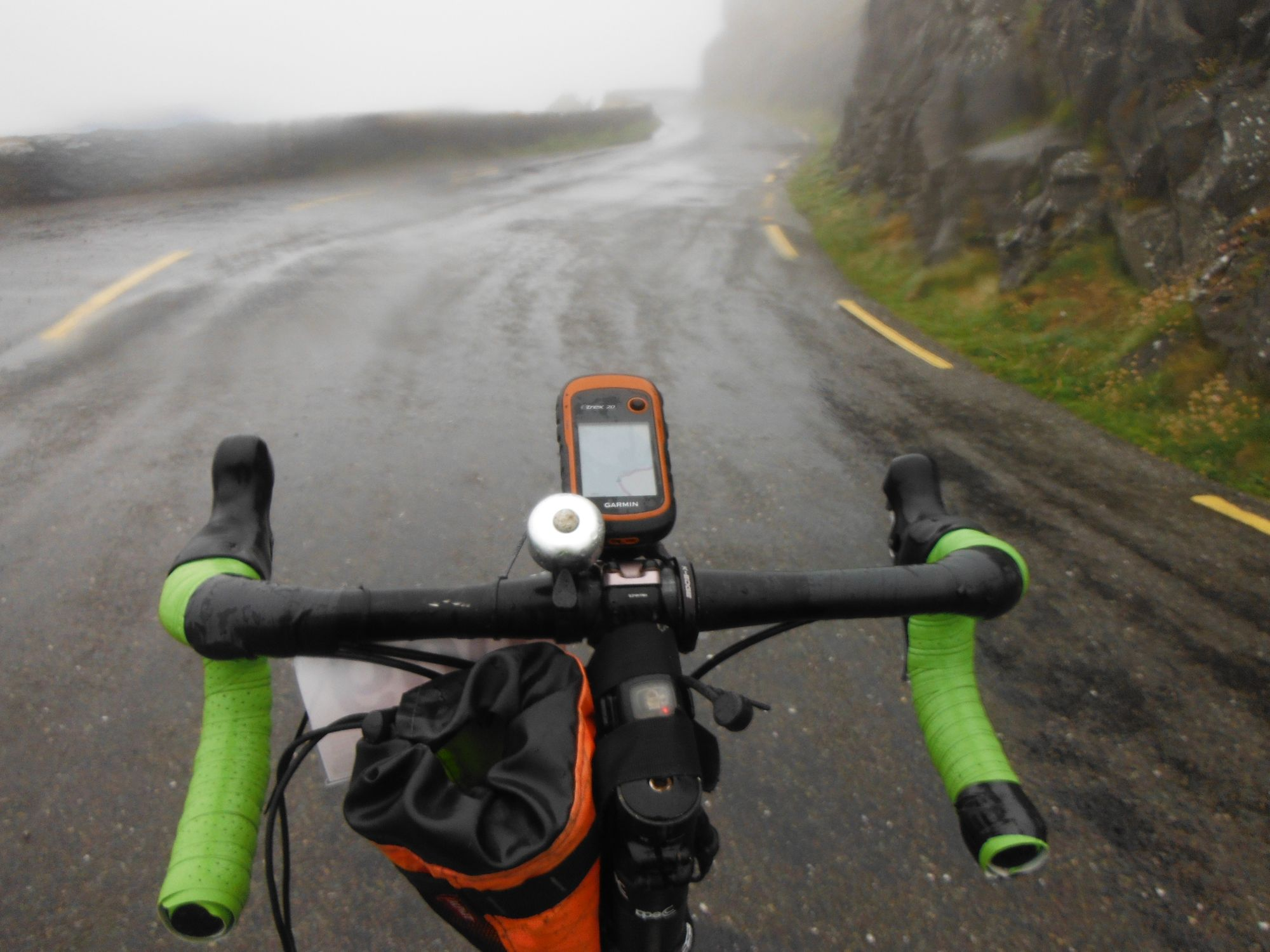 Wet and misty on the climb to Slea Head