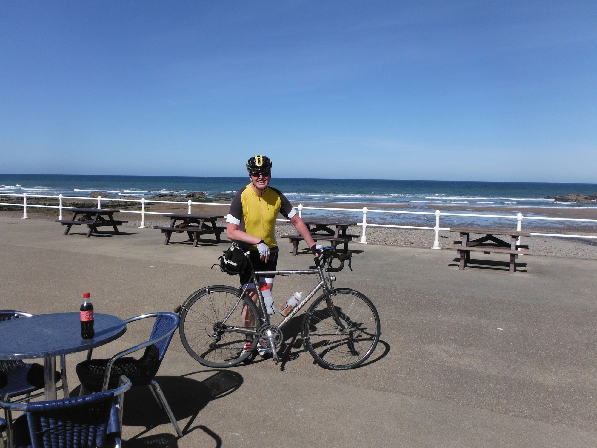 At the café in Bude