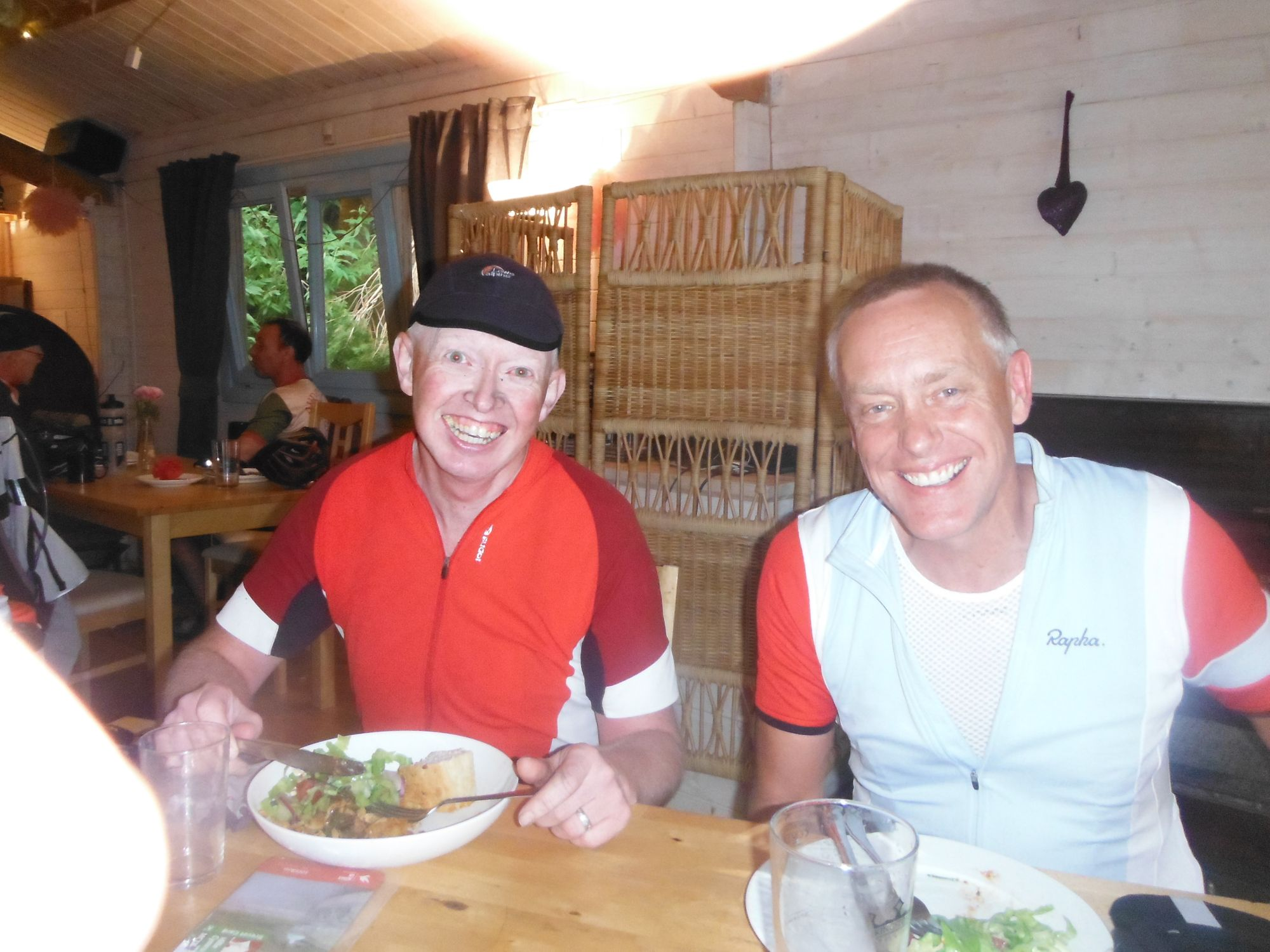 Eating with Andrew Preston at the Tintern Abbey Control