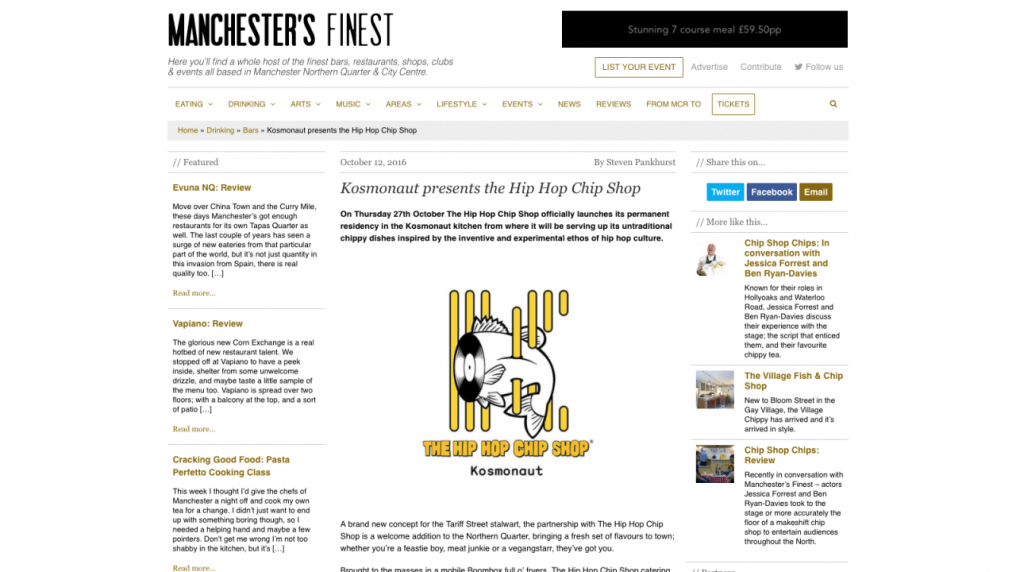 Kosmonaut presents the Hip Hop Chip Shop