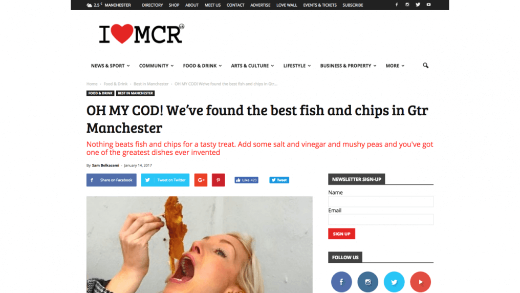 OH MY COD! We've found the best fish and chips in Gtr Manchester