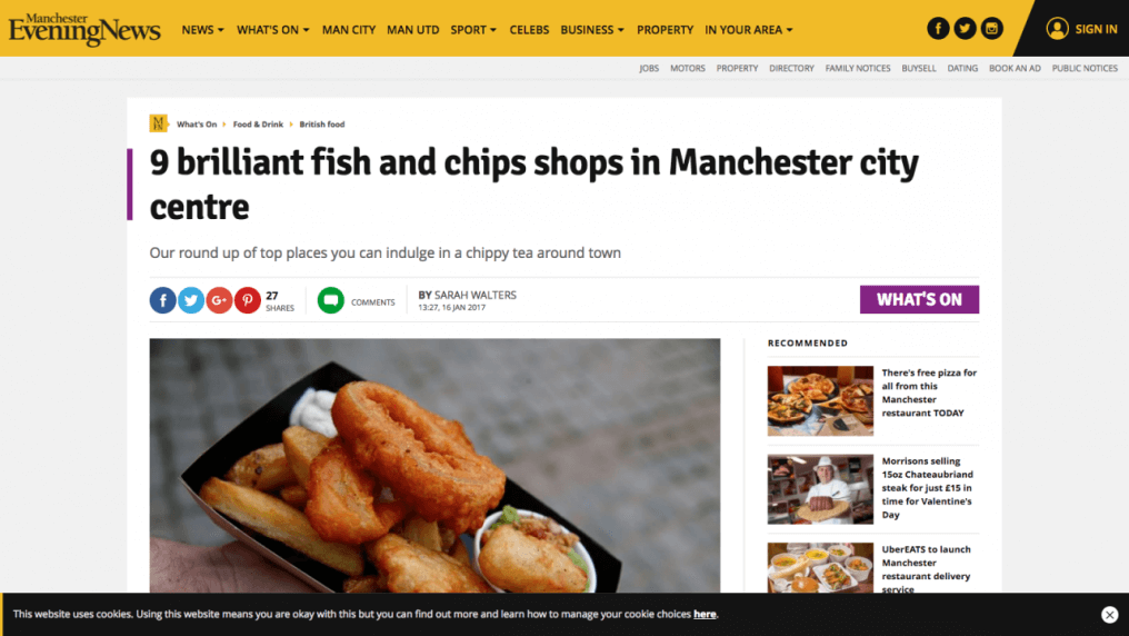 Our round up of top places you can indulge in a chippy tea around town