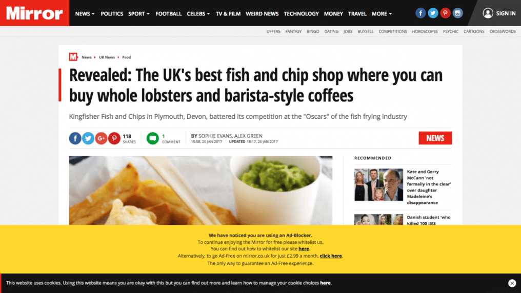 Revealed: The UK's best fish and chip shop where you can buy whole lobsters and barista-style coffees