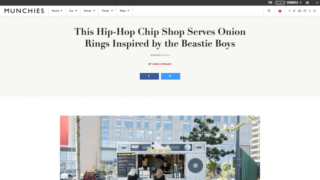 This Hip-Hop Chip Shop Serves Onion Rings Inspired by the Beastie Boys
