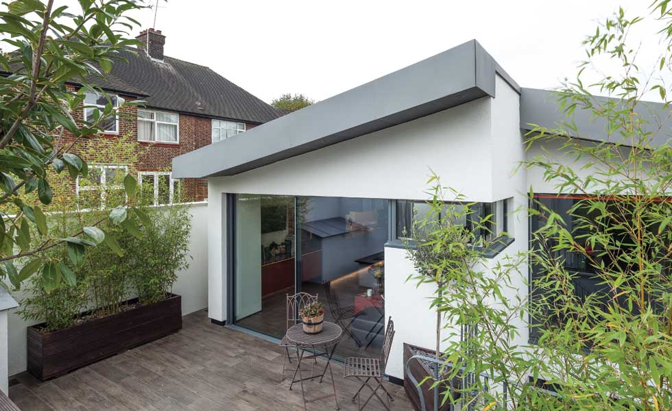 accessible home built on a garden plot with terrace