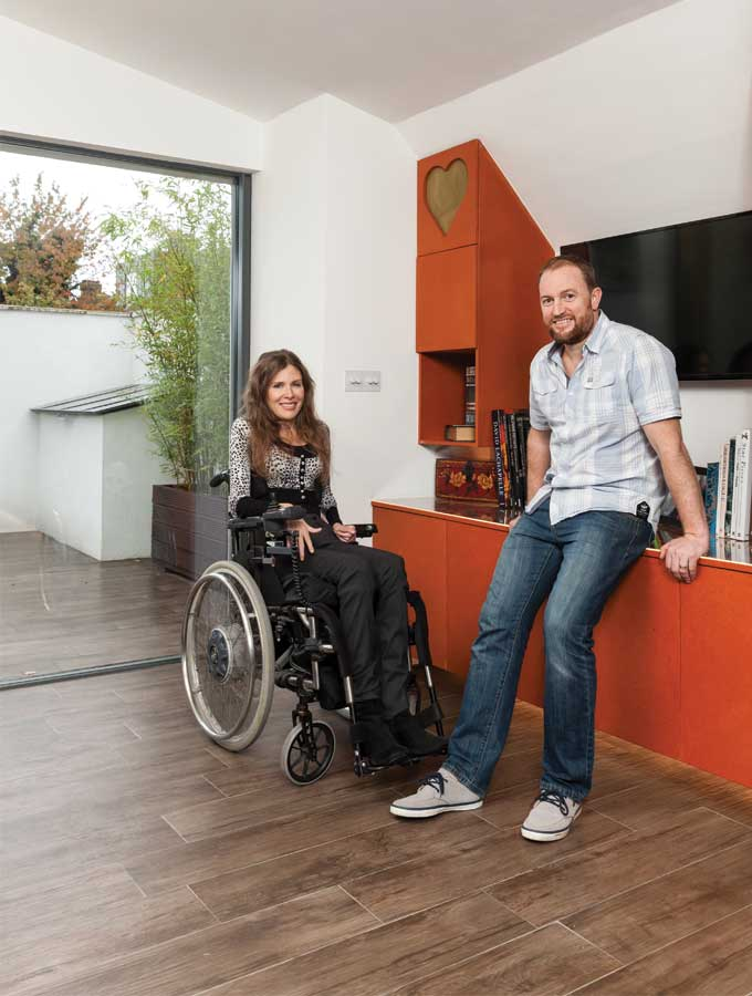 Lara and Dieter Lessman in their self build home