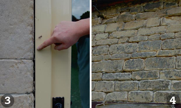 Repointing a wall: Steps 3 and 4