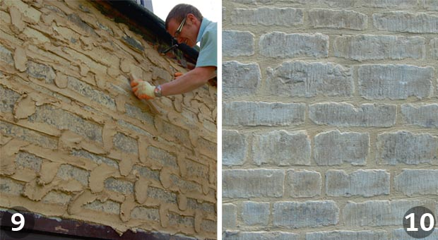 Repointing a wall: Steps 9 and 10