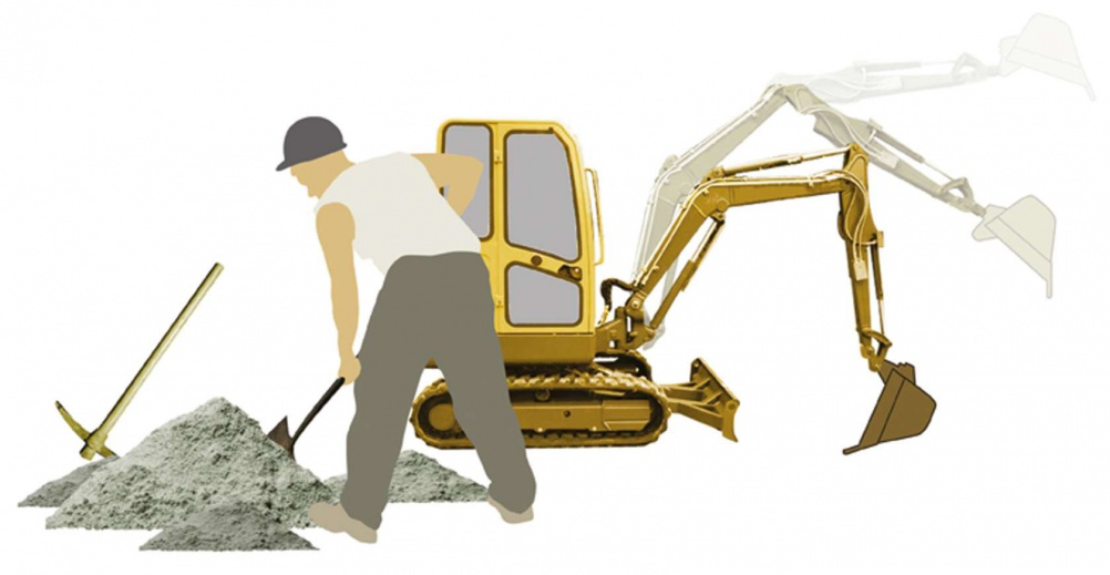 Illustration of a groundworker