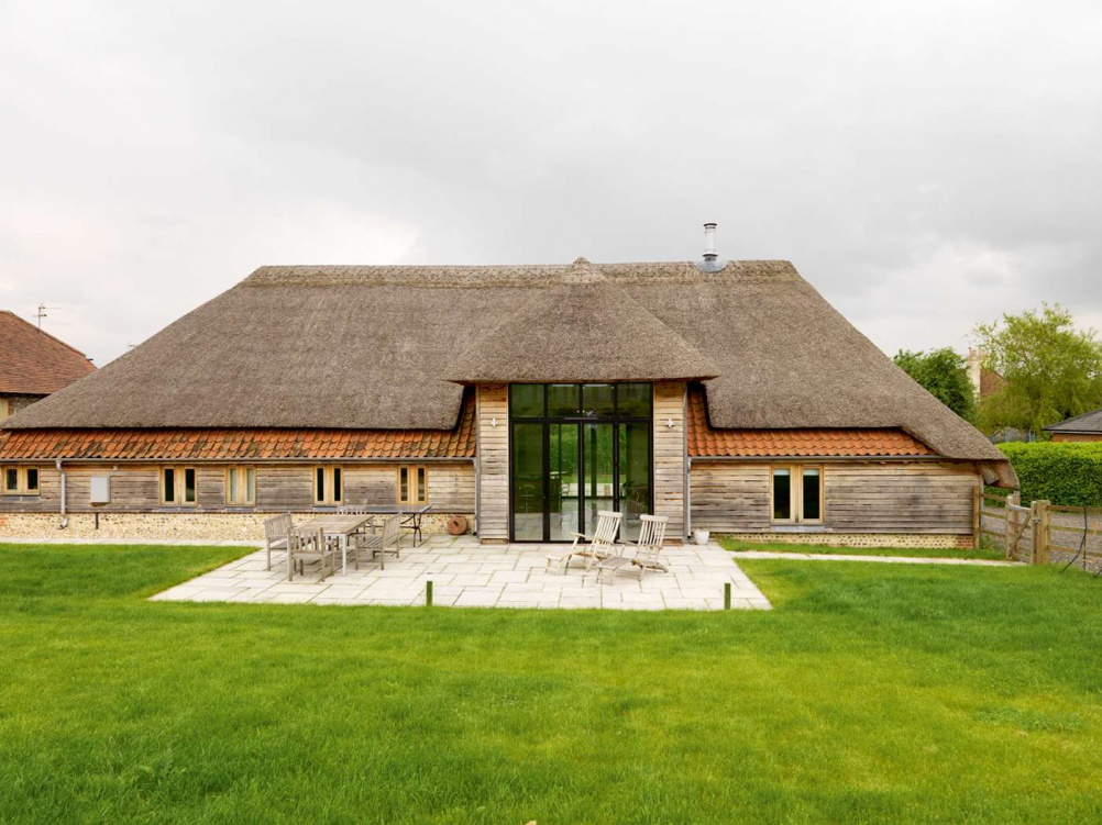 Front elevation of a converted barn