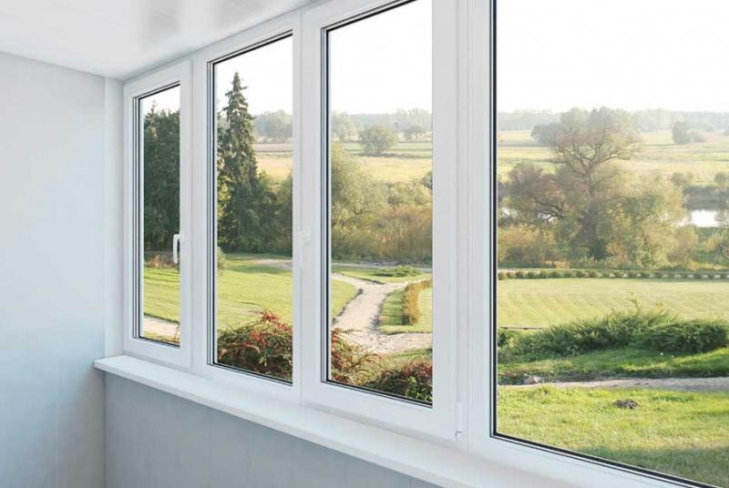 Double glazing - waterside windows.