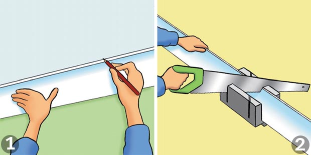 How to put up coving: Steps 1 and 2