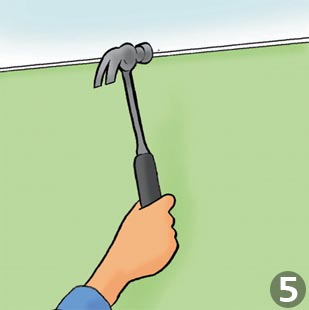 How to put up coving: Step 5