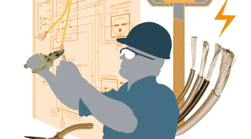 Electrician illustration