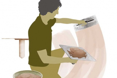 Plasterer illustration