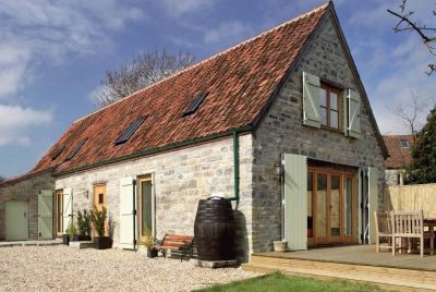A converted stone barn