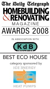 Winner of Best Eco House in the 2008 Daily Telegraph Homebuilding & Renovating Awards 2008