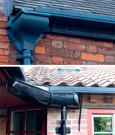 Traditional cast iron guttering