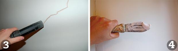 Repairing plaster steps 3 and 4