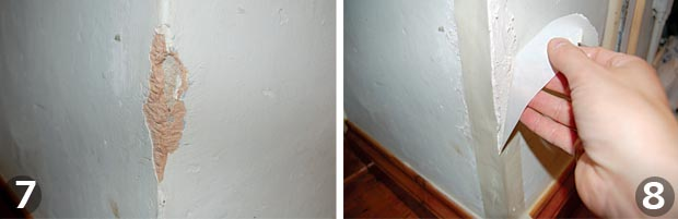 Repairing plaster steps 7 and 8