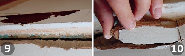 Repairing plaster steps 9 and 10