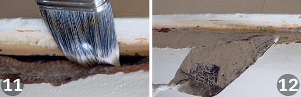 Repairing plaster steps 11 and 12