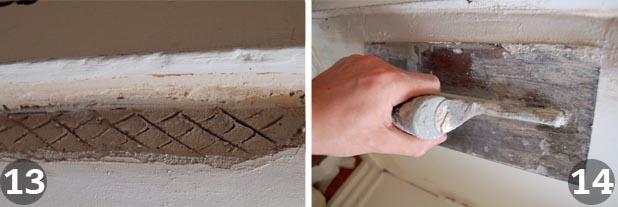 Repairing plaster steps 13 and 14