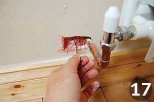 Repairing plaster step 17