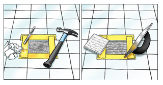 How to replace a Broken Tile - Step Three