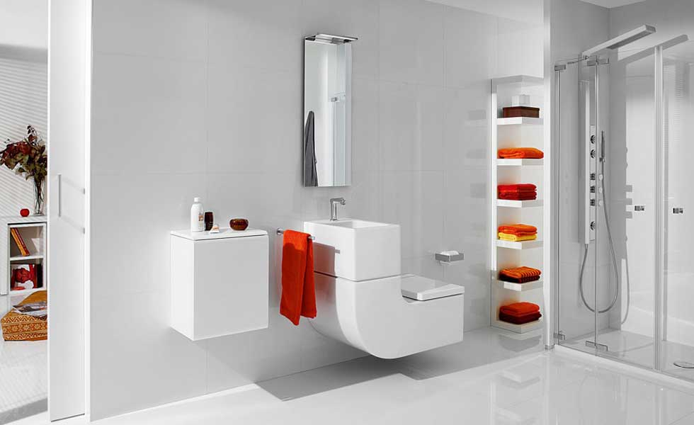 W+W toilet from Roca with built-in sink