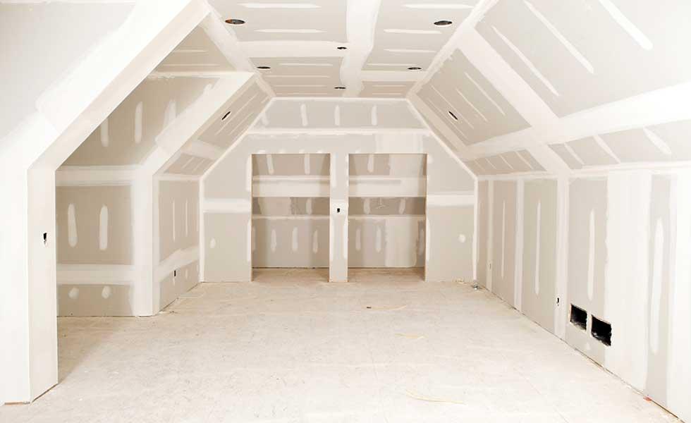 plasterboard and skim in a loft conversion