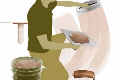 plastering illustration
