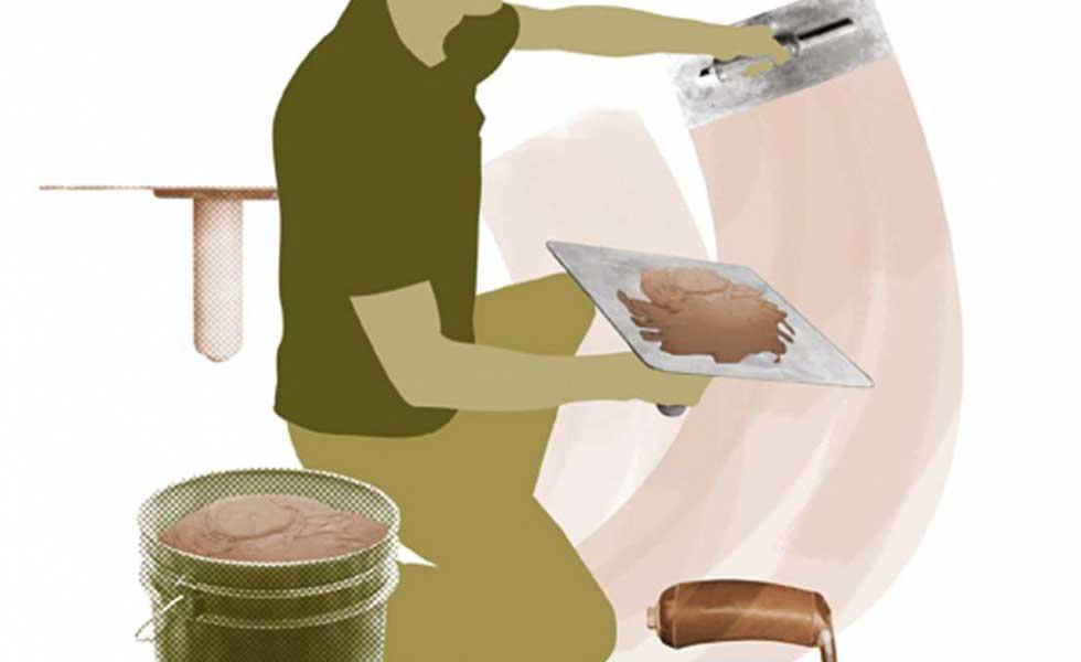 plastering illustration