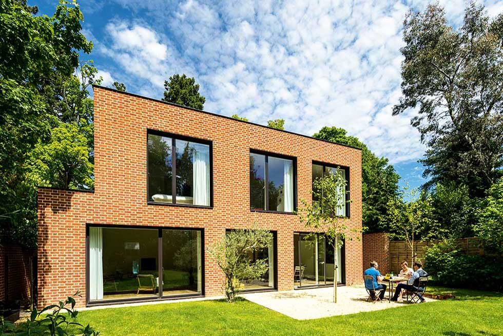 contemporary brick home showing what can be done under planning permission