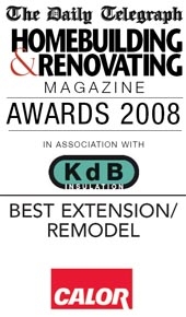 Winner of Best Extension in the Daily Telegraph Homebuilding & Renovating Awards 2008